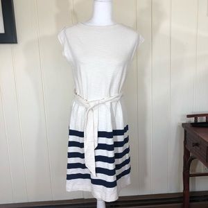 Gap Ivory & Navy Blue Sleeveless Dress Size Small
